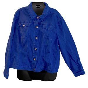 Royal Blue Plus sized Denim Jacket in 22w / 24w